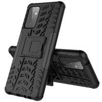 RMPACK Samsung Galaxy A72 5G Ütésálló Tok Kitámasztható 2in1 Hybrid Fekete