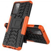 RMPACK Samsung Galaxy A72 5G Ütésálló Tok Kitámasztható 2in1 Hybrid Narancssárga