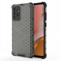 RMPACK Samsung Galaxy A72 5G Ütésállókivitel Szilikon Tok Honeycomb Shock-Proof TPU Fekete