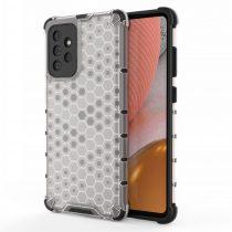 RMPACK Samsung Galaxy A72 5G Ütésállókivitel Szilikon Tok Honeycomb Shock-Proof TPU Szürke