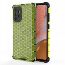 RMPACK Samsung Galaxy A72 5G Ütésállókivitel Szilikon Tok Honeycomb Shock-Proof TPU Zöld