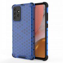 RMPACK Samsung Galaxy A72 5G Ütésállókivitel Szilikon Tok Honeycomb Shock-Proof TPU Kék