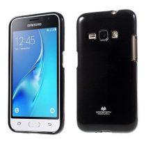 Samsung Galaxy J1 (2016) Szilikon Tok Mercury Goospery Csillámló Fekete