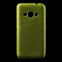 Samsung Galaxy J1 (2016) Szilikon Tok Szálcsiszolt Mintával Zöld