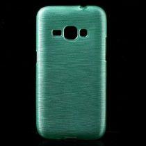 Samsung Galaxy J1 (2016) Szilikon Tok Szálcsiszolt Mintával Cián