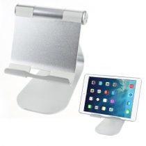 Tablet Tartó Állvány Ezüst Aluminium Kivitel Csuszásgátlóval