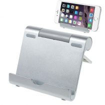 Utazó Tablet - Telefon Állvány Tartó Kompakt - Ezüst