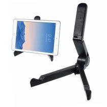 Összecsukható Tablet Állvány Tartó - Hordozható Állítható Magasság Fekete