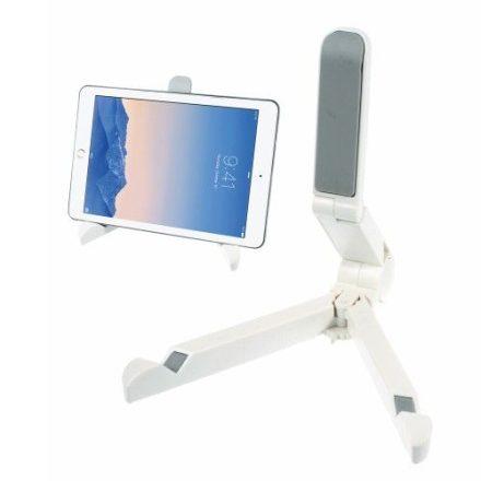Összecsukható Tablet Állvány Tartó - Hordozható Állítható Magasság Fehér