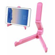 Összecsukható Tablet Állvány Tartó - Hordozható Állítható Magasság Rózsaszín