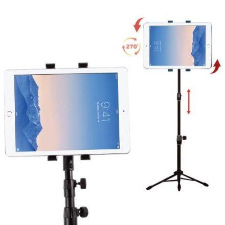 Háromlábú Tablet Állvány Tartó Konzol - 1,2 M - Könnyű, Hordozható + Táska