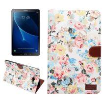 Samsung Galaxy Tab A 10.1 (2016) T580 - Tok Virág Mintás Kitámasztható B01