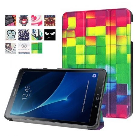 Samsung Galaxy Tab A 10.1 (2016) T580 - Slim Mintás Tablet Tok RMPACK SM06