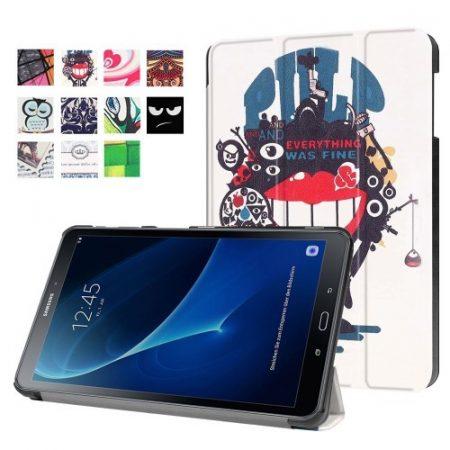Samsung Galaxy Tab A 10.1 (2016) T580 - Slim Mintás Tablet Tok RMPACK SM09