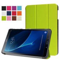 Samsung Galaxy Tab A 10.1 (2016) T580 - Tri-fold Slim Notesz Tok (AutoWakeUp) Zöld