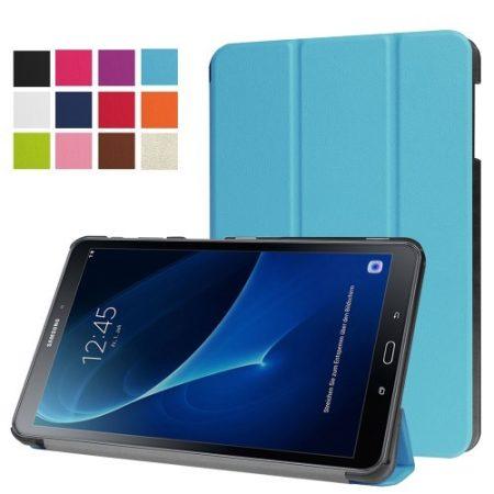 Samsung Galaxy Tab A 10.1 (2016) T580 - Tri-fold Slim Notesz Tok (AutoWakeUp) Világoskék