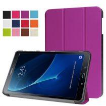 Samsung Galaxy Tab A 10.1 (2016) T580 - Tri-fold Slim Notesz Tok (AutoWakeUp) Lila