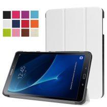 Samsung Galaxy Tab A 10.1 (2016) T580 - Tri-fold Slim Notesz Tok (AutoWakeUp) Fehér