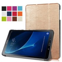 Samsung Galaxy Tab A 10.1 (2016) T580 - Tri-fold Slim Notesz Tok (AutoWakeUp) Arany