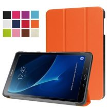 Samsung Galaxy Tab A 10.1 (2016) T580 - Tri-fold Slim Notesz Tok (AutoWakeUp) Narancssárga
