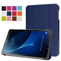 Samsung Galaxy Tab A 10.1 (2016) T580 - Tri-fold Slim Notesz Tok (AutoWakeUp) Sötétkék