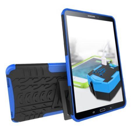 Samsung Galaxy Tab A 10.1 (2016) T580 - Slim Ütésálló Tok 2in1 Védőtok Kitámasztható Kék