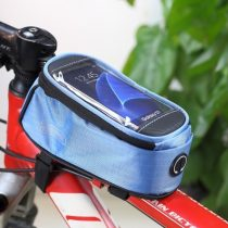 Telefontartó Kerékpár / Bicikli - Vázra rögzíthető Érintős Cipzáros 4.8' ROSWHEEL Kék