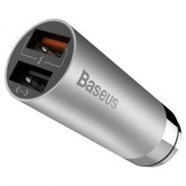 BASEUS CarQ Series QC3.0 Dual USB Autós Töltő  Shrapnel Interface - Grey