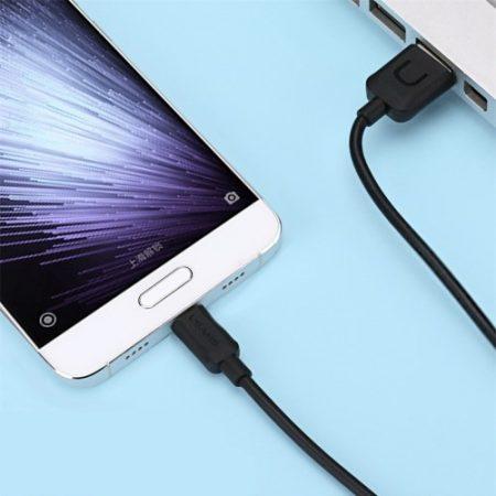 USAMS USB Adat-Töltő Kábel Type-C 2A 1M Fekete
