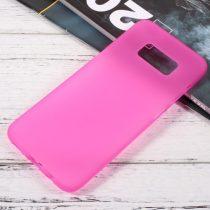 Samsung Galaxy S8 TPU Szilikon Tok Matt Rózsaszín