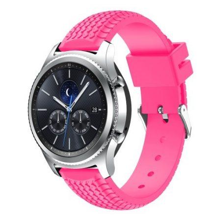 Samsung Gear S3 Classic / Frontier Szilikon Óraszíj - Pótszíj Tyre Style Pink