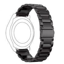Samsung Gear S3 Frontier Fémszíj Pótszíj - Óraszíj Fekete