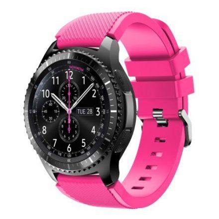 Samsung Gear S3 Frontier / Gear S3 Pótszíj - Óraszíj Trendy Sport Szilikon Pink