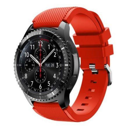 Samsung Gear S3 Frontier / Gear S3 Pótszíj - Óraszíj Trendy Sport Szilikon Piros