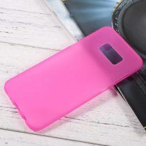 Samsung Galaxy S8 Plus Tok Matt Szilikon TPU FényesKerettel Pink