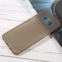 Samsung Galaxy S8 Plus Tok Matt Szilikon TPU FényesKerettel Szürke