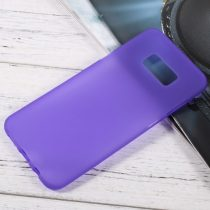 Samsung Galaxy S8 Plus Tok Matt Szilikon TPU FényesKerettel Lila