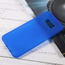 Samsung Galaxy S8 Plus Tok Matt Szilikon TPU FényesKerettel Kék