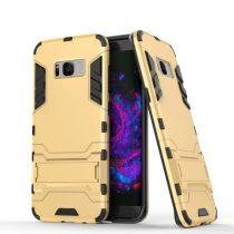 Samsung Galaxy S8+ Armor Tok Ütésálló Kivitel Kitámasztható Arany