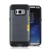 Samsung Galaxy S8+ / Galaxy S8 Plus Hybrid Tok 2in1 Szálcsiszolt Szilikon+Műanyag Sötétkék