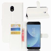 Samsung Galaxy J5 2017 EU Bankkártyatartós Notesz Tok Szilikon Belsővel Fehér