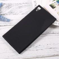 Sony Xperia XA1 Ultra Szilikon Tok Matt Fényeskerettel Fekete