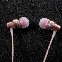 Fülhallgató - Headset / PINZUN X6 Rózsaarany