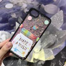 iPhone 6 6S TPU Szilikon Glitteres Csillámló Tok Wish