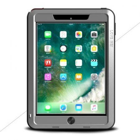 iPad 9.7 (2017) LOVE MEI Tok Ütésálló - Porálló ( Tempered Glass ) Ezüst