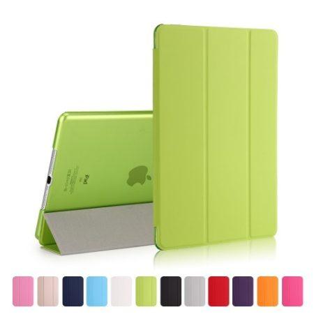 iPad 9.7 (2017) Tri-Fold Tok Kitámasztható Ébresztő/Altató Funkcióval Zöld
