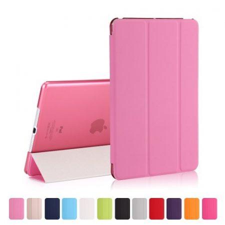 iPad 9.7 (2017) Tri-Fold Tok Kitámasztható Ébresztő/Altató Funkcióval Rózsaszín