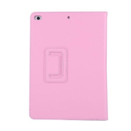 iPad 9.7 (2017) Notesz Tok Mappa - Keretvédelemmel - Kitámasztható Rózsaszín
