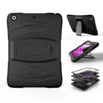 iPad 9.7 (2017) Defender Ütésálló Tok - Kijelzővédelemmel 2in1 Fekete
