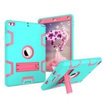 iPad 9.7 (2017) Tok Ütésálló 2in1 Heavy Duty Series RMPACK Kitámasztható Cián/Pink